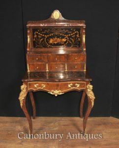 العتيقة الإمبراطورية الفرنسية بنور دو جور مكتب الكتابة مكتب البطانة