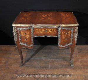 العتيقة لويس الخامس عشر الركبة هول مكتب الكتابة مكتب الجدول 1920