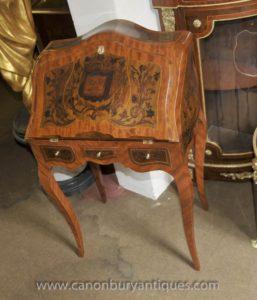مكتب الإمبراطورية الفرنسية مكتب دي سيدة الكتابة الجدول منحوت البطانة