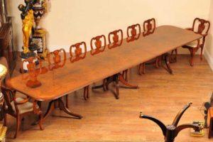 16FT الجوز ريجنسي الركيزة مقاعد طاولة الطعام 18
