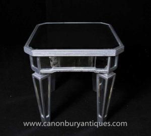 آرت ديكو طاولة جانبية مع طاولة جانبية من بورجيز