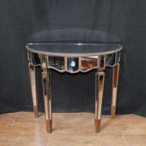 طاولة كونسول معكوسة طاولة آرت ديكو ديمي لون