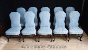 تعيين 10 مقاعد الكراسي المنجد الفيكتوري الطعام