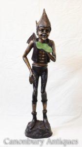 برونز سلتيك عابث تمثال Fairey الصب