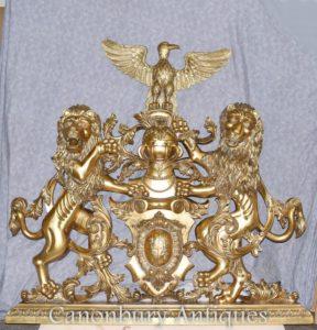 مذهب معطف من الأسلحة الإنجليزية قلعة اليد منحوت الشعار