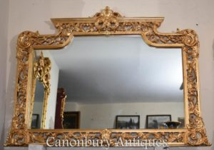 مرآة إنكليزيّة كبيرة شيبيندال جيلت