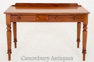 الفيكتوري الجانب الكتابة طاولة مكتب Circa 1860 الماهوجني