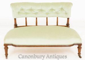 العتيقة نافذة الفيكتوري مقعد - الأريكة الأريكة 1870