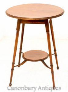 طاولة جانبية من الماهوجني - تحفة عرضية من عام 1890
