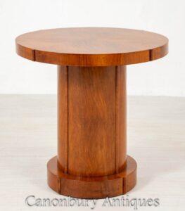 طاولة جانبية بتصميم آرت ديكو - خشب الجوز 1930