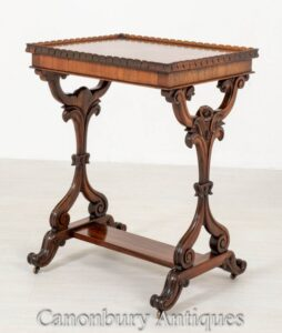 طاولة جانبية عرضية من العصر الفيكتوري روزوود حوالي عام 1850