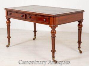 مكتب الفيكتوري الماهوجني - طاولة الكتابة العتيقة 1850