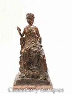 تمثال روماني مايدن من البرونز - تمثال توجا الكلاسيكي المكسو