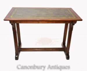 طاولة الكتابة من ريجنسي - مكتب من خشب الماهوجني