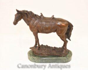 الفرنسية البرونزية تمثال الحصان - تمثال الفروسية
