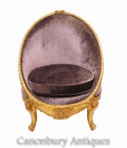 كرسي بذراعين Empire Gilt Tuكرسي بذراعين Empire Gilt Tub - أريكة بمقعد مذهبb - أريكة بمقعد مذهب